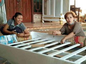 packing mebel, furniture jepara, foam sheet