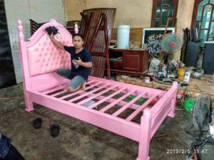 tempat tidur, tempat tidur anak, dipan, dipan anak, dipan pink,
