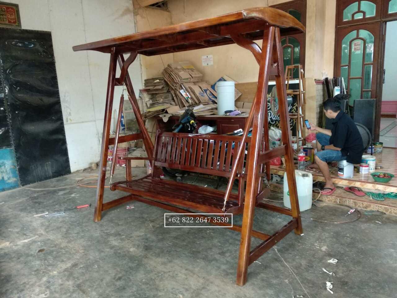 ayunan kayu jati, swing bench, teak swing bench, ayunan jati jepara