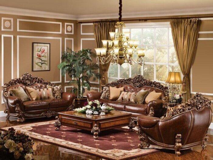 kursi tamu sofa mewah faldrobe kayu jati